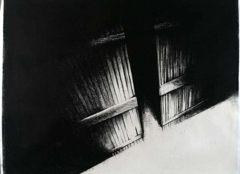 Senza titolo, 2006, tempera e carbone su carta, cm 110x140