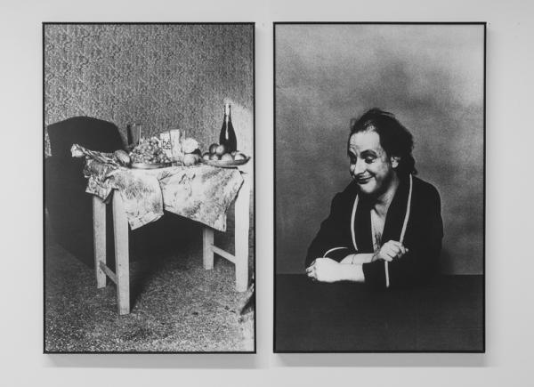 Tableaux Recentes, 1977, 2 photographs on canvas, cm 110x140