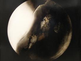 Estasi, 2008, tecnica mista su tavola, cm 100x100
