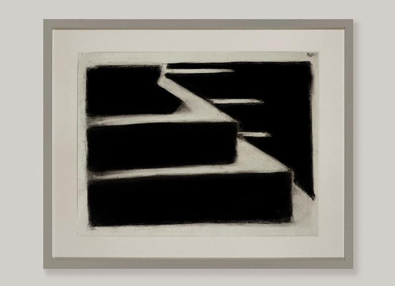 Senza titolo, 2008, tempera e carbone su carta, cm 76x96
