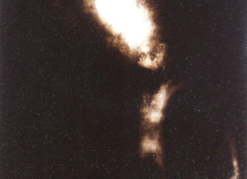 Tentativo di esistenza, 2002, tecnica mista su tavola, cm 145x145
