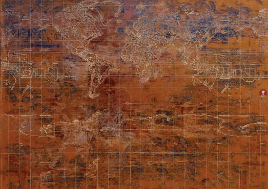 Il giardino della fame, 2003, acrilico su tela, cm 200x250