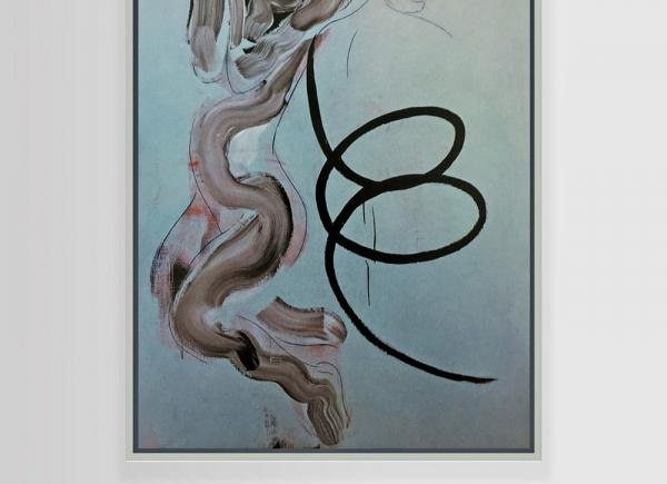 Selbstportrait aus der Serie der grossen Gefühle (Madonna degli ubriachi), 1983, acrylic on canvas, cm 155x110