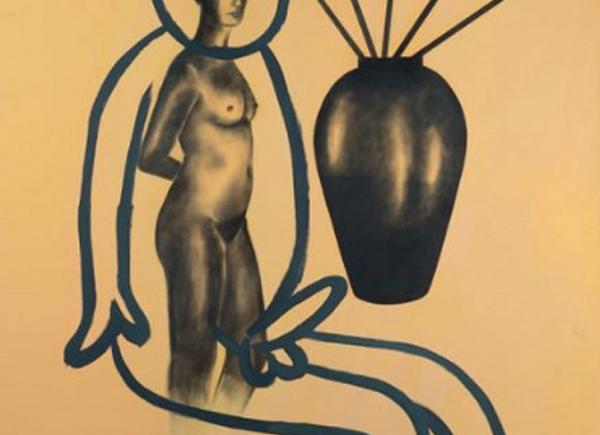 Selbstportrait aus der Serie der grossen Gefuhle, 1985, acrylic on canvas, cm 200x150