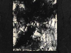 Senza titolo, 2007, tecnica mista su carta, cm 174x140