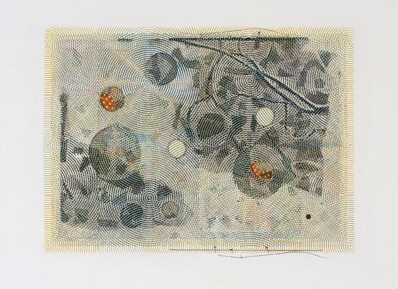 Una giornata di vento e neve, 2017, olio e acrilico su tela, cm 200x150