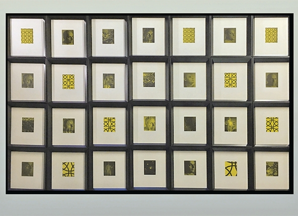Universelle Ordenung, 1991, hand tinted photographs, framed, each cm 34x29 (28 pieces together cm 136x205)