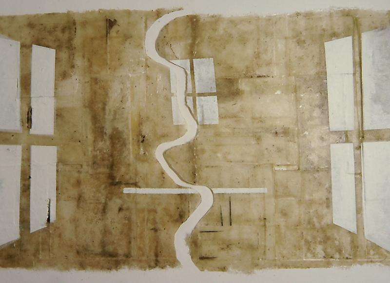 Studio Bianco, 2005, cementite su vetroresina, cm 260x450