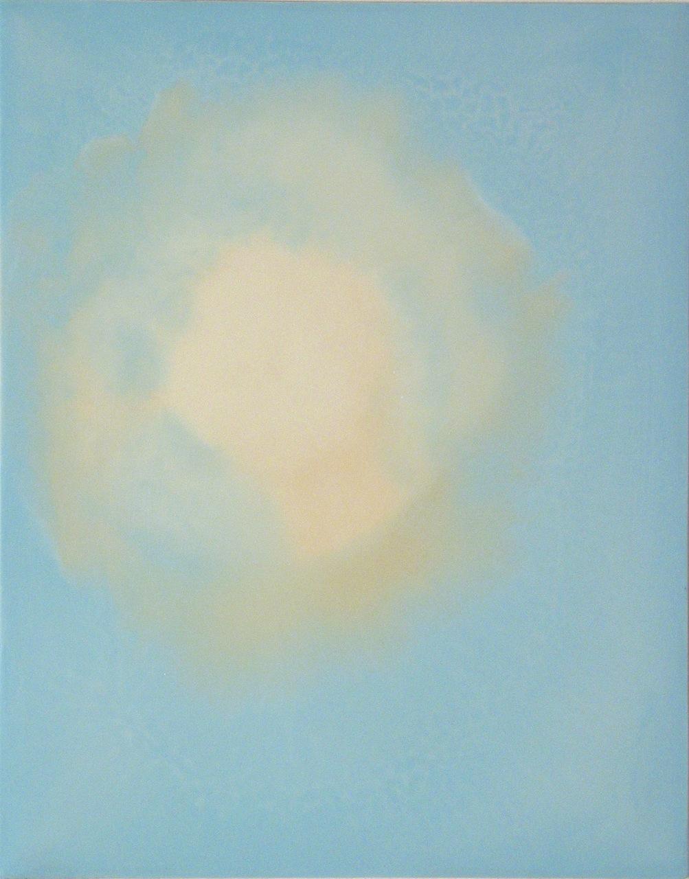 Peter Flaccus, Sky Bulb, 2006, encausto su tavola, cm 43x34