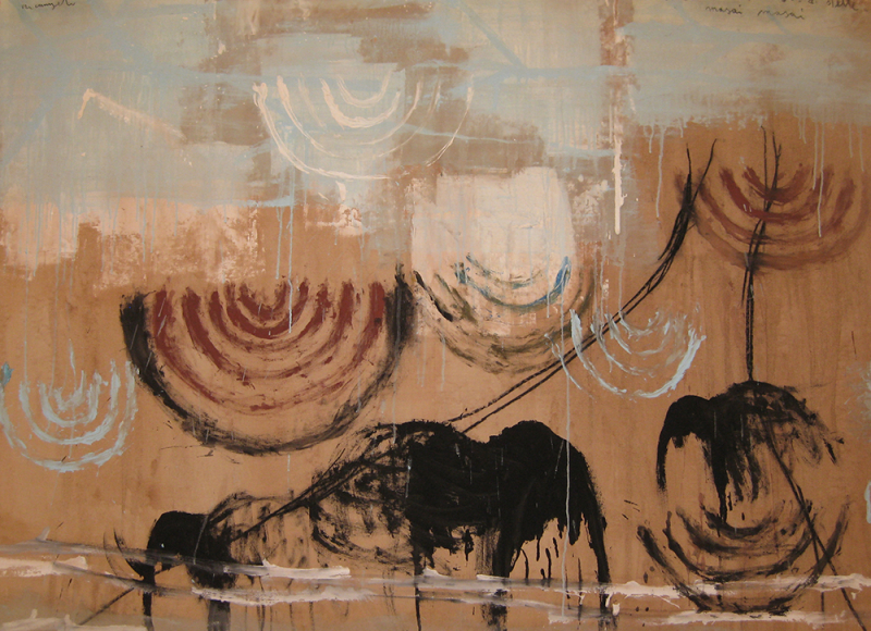 ...di stelle. Araba. Di stelle. Masai Masai, 2009, tecnica mista su tela, cm 137x140