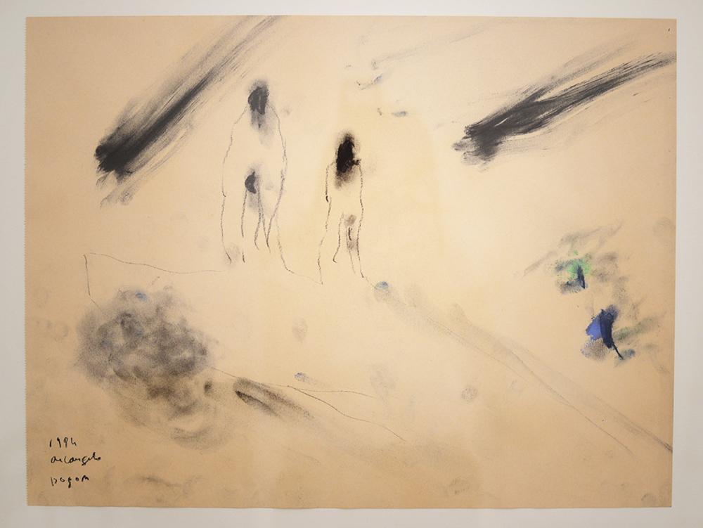 Dogon, 1994, tecnica mista su carta, cm 36x47