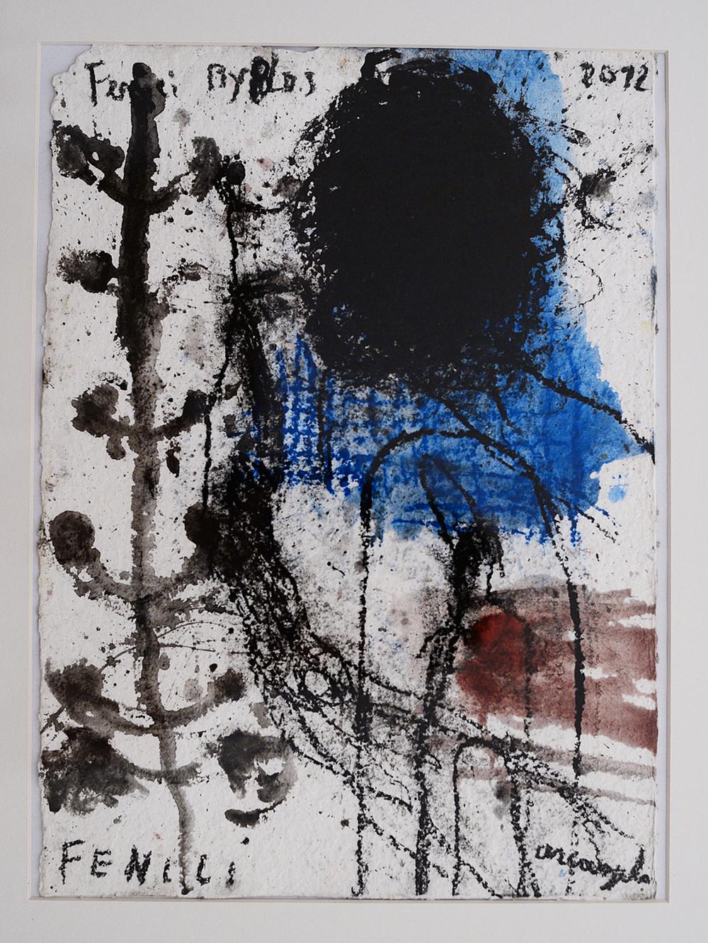 I Fenici, 2012, tecnica mista su carta, cm 39x28
