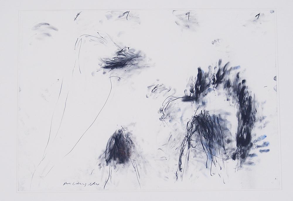 Senza titolo, 1991, tecnica mista su carta, cm 50x70