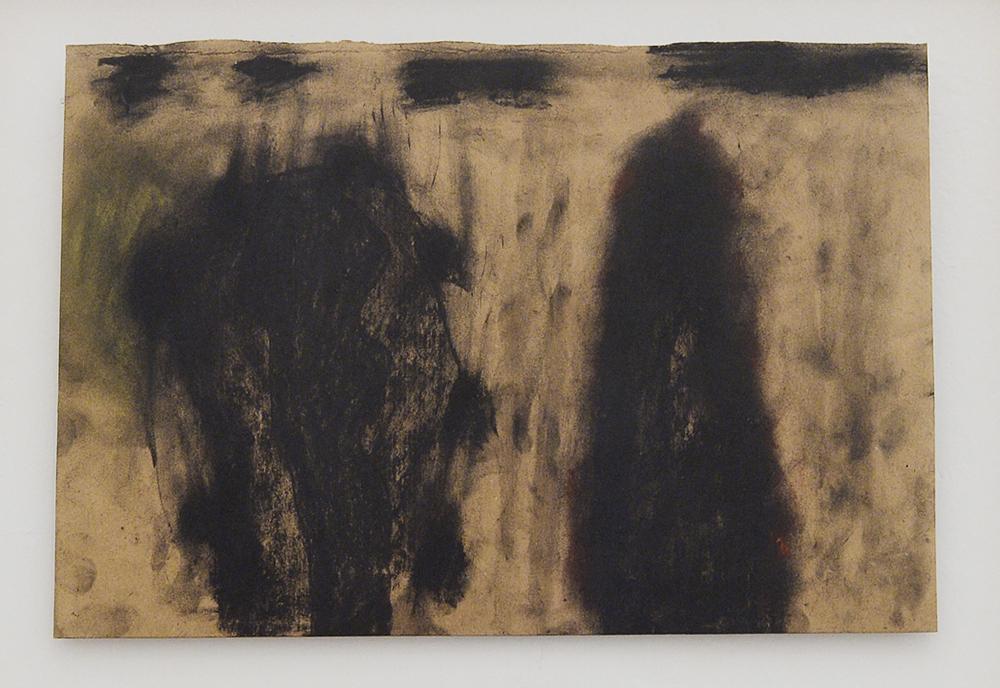 Senza titolo, 1991, tecnica mista su carta pesce, cm 28x41