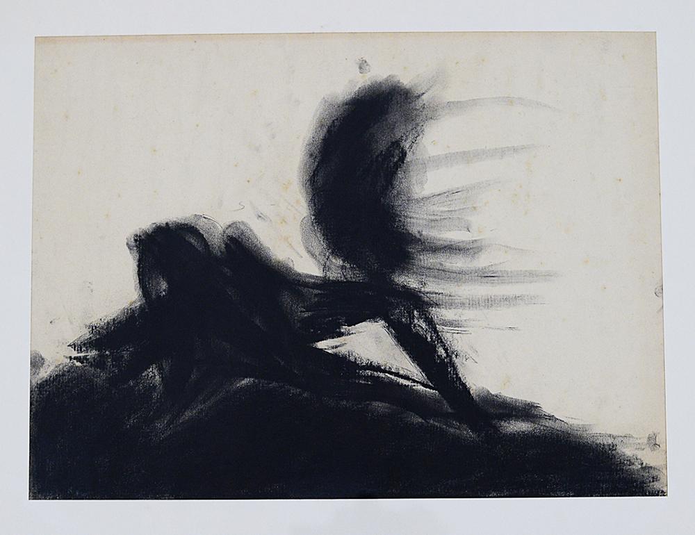 Terra mia, 1983, tecnica mista su carta, cm 35x47