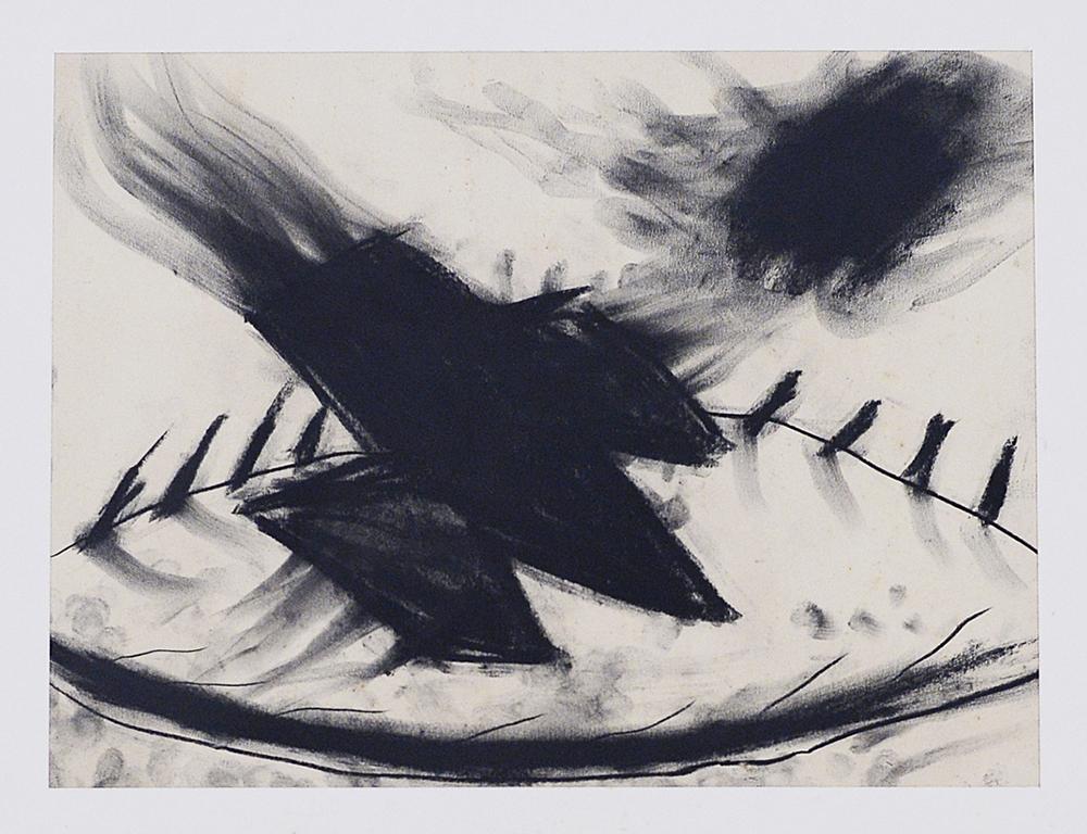 Terra mia, 1983, tecnica mista su carta, cm 30x39