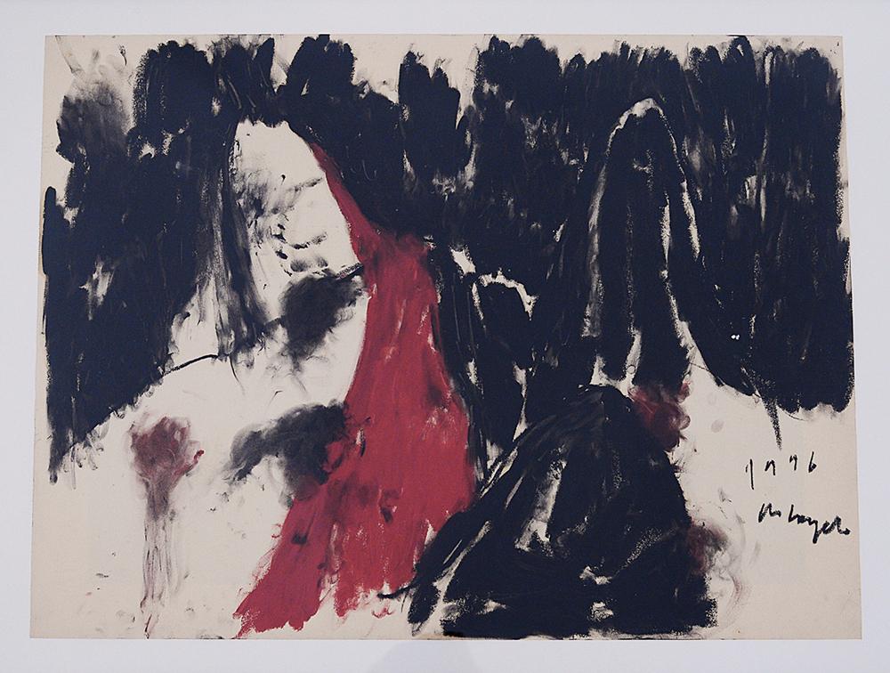 Verso il mare, 1996, tecnica mista su carta, cm 60x80
