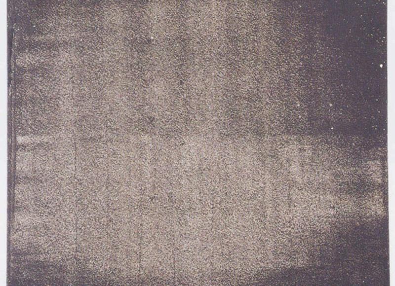 Frammento di inventario, fig. 62, 2001, abrasione con le dita su dispersione su pvc, cm 80x80