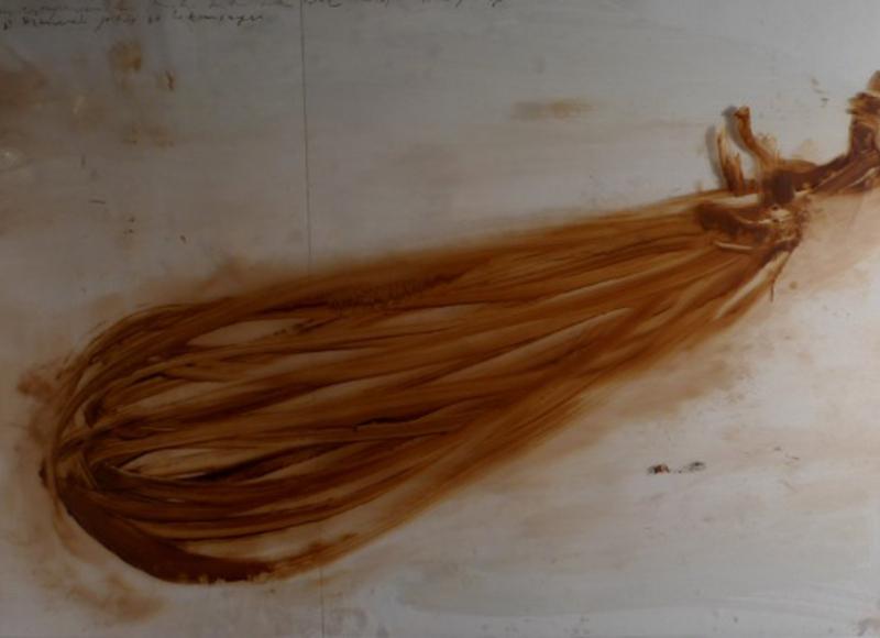 La signora vado bene, 2010, tecnica mista su acetati sovrapposti, cm 118x192