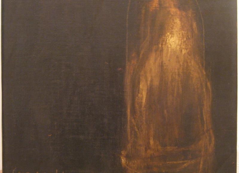 Senza titolo, 1999-2000, tecnica mista su tela, cm 80x80