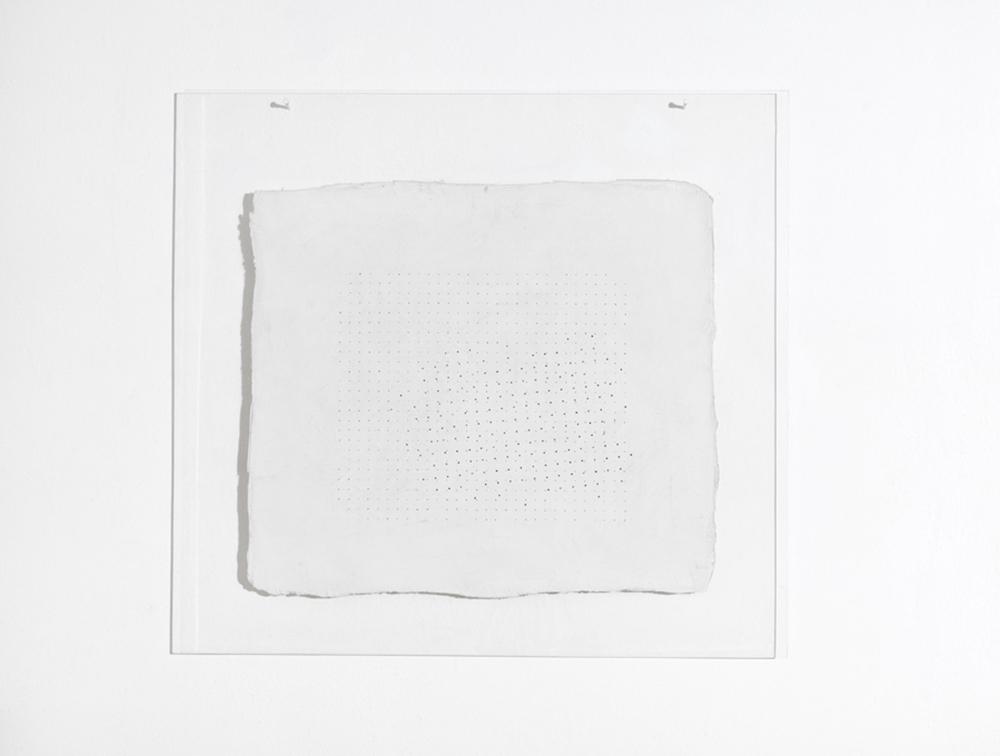 Quadro, 1973, acrilici e durcot su plexiglas, cm 69x74