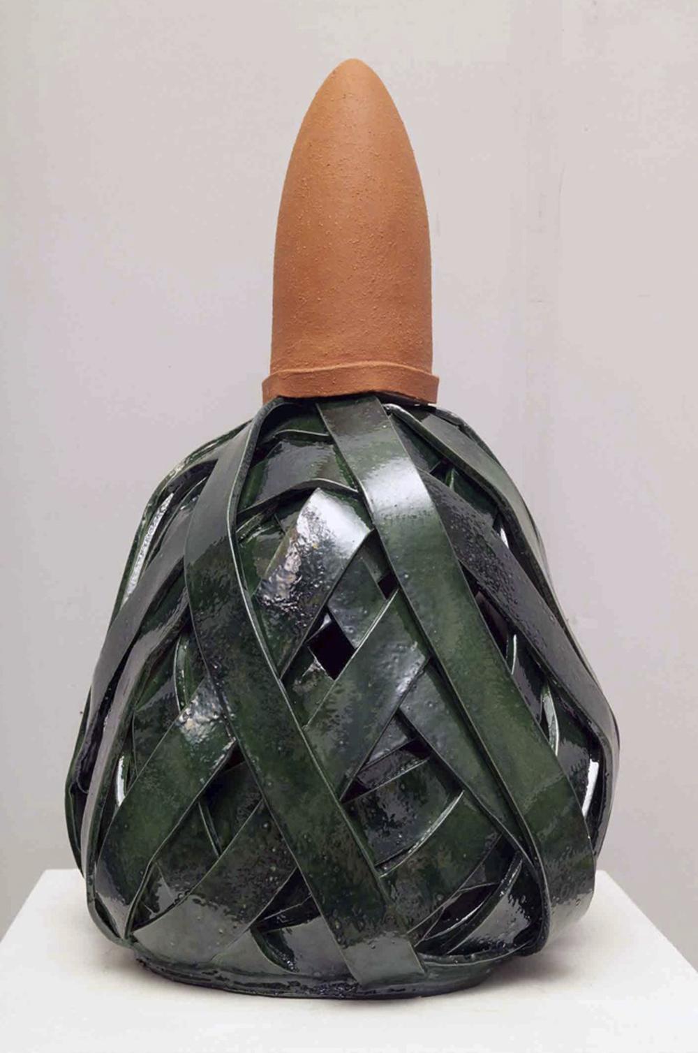 Aldo Mondino, Il turbante, 1990, ceramica, cm h85x55