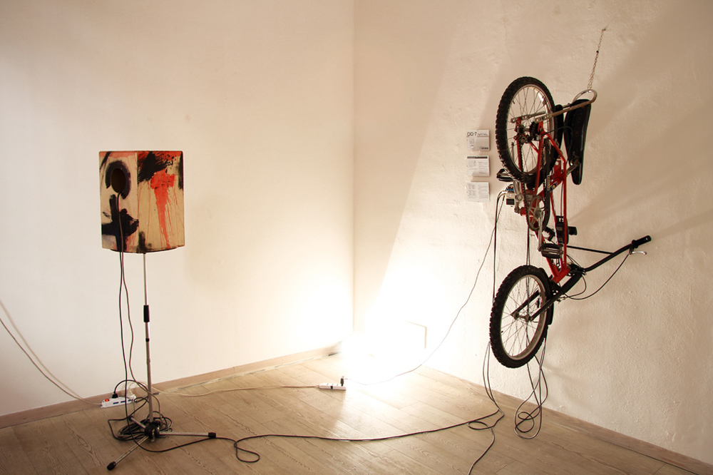 Katarina Poklepovic, Bicycle-Delay, 2016, installazione sonora, misure variabili