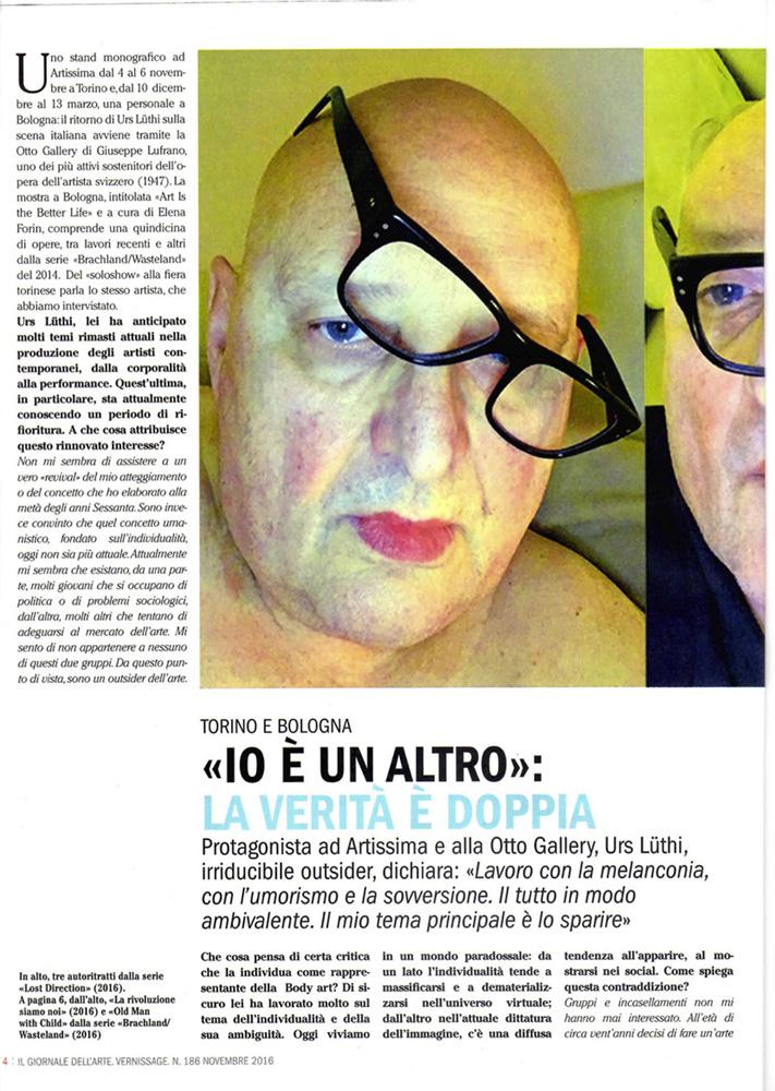 Intervista Urs Luethi Giornale dell'arte 1