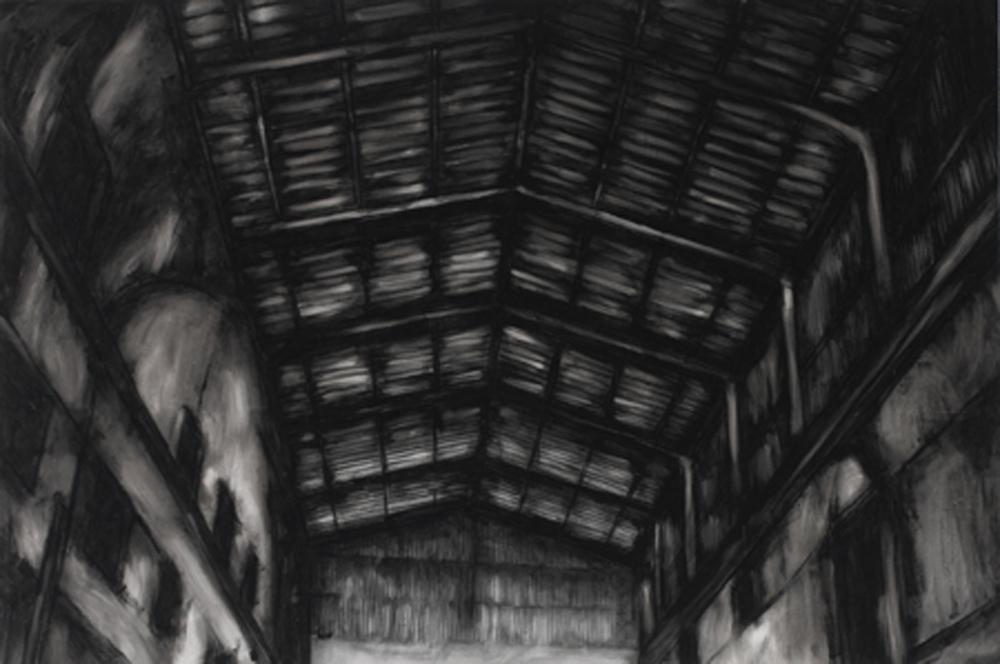 Clandestina 4, 1999, olio su tela di lino, cm 100x150