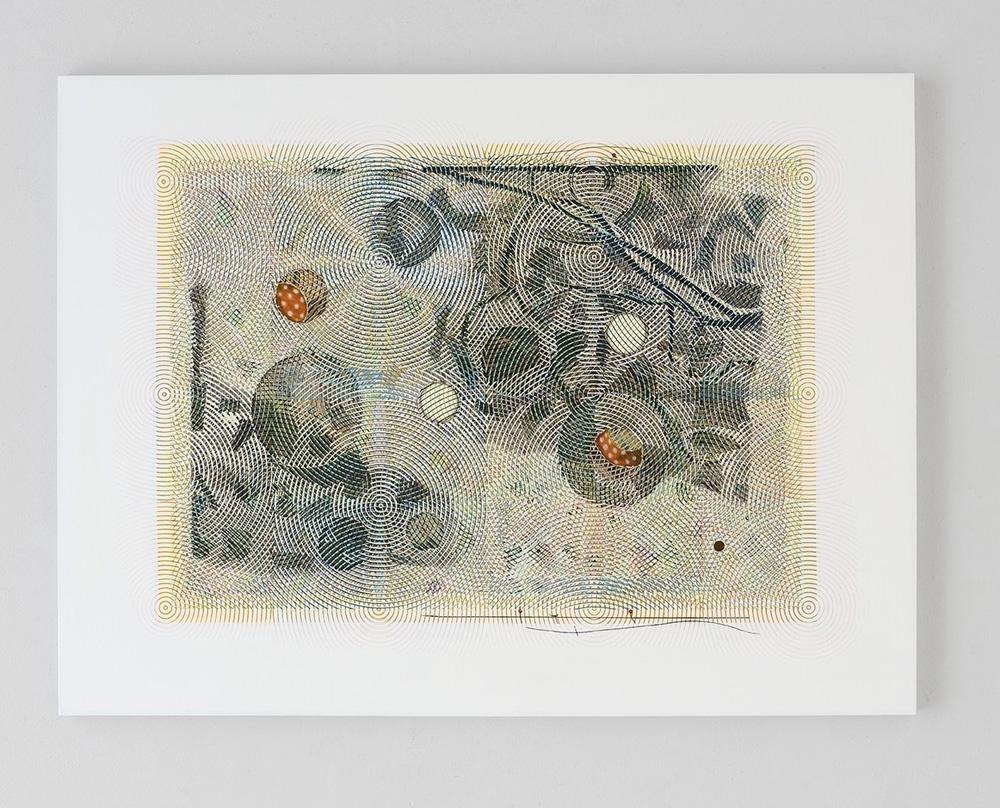 Luigi Carboni, Una giornata di vento e neve, 2017, olio e acrilico su tela, cm 150x200