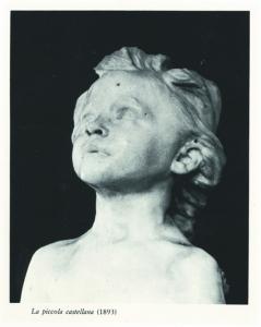 Gabriele Di Matteo, La piccola castellana (1893), 1989, fotografia incollata su tela, cm 170x120