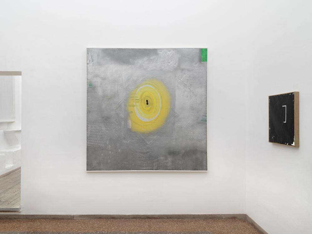 Argento, 1994, olio e cromo liquido su tela, cm 200x200