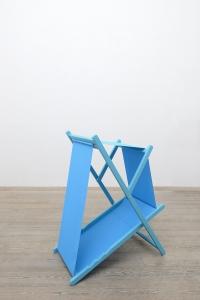 Ipotesi, 2018, legno verniciato e nylon, cm 115hx100x60