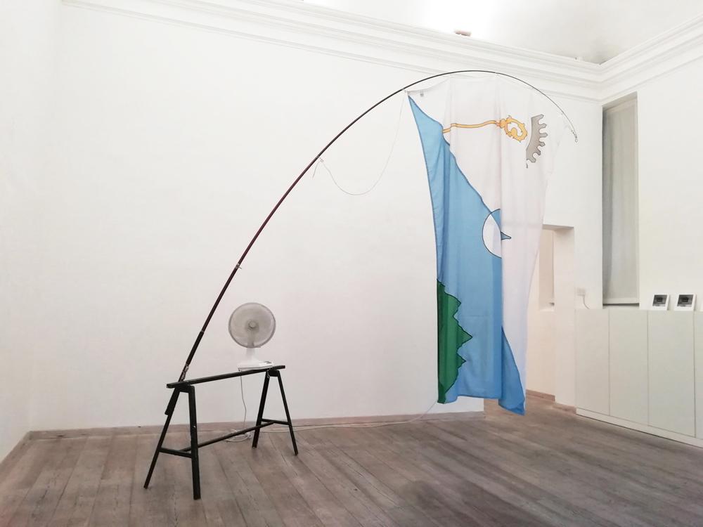 Eugenio Tibaldi, Una bandiera per Latronico, 2011, materiali vari, dimensioni variabili