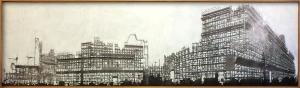 Eugenio Tibaldi, Temporary final 07, acrilico bianco su stampa, cm 54x205