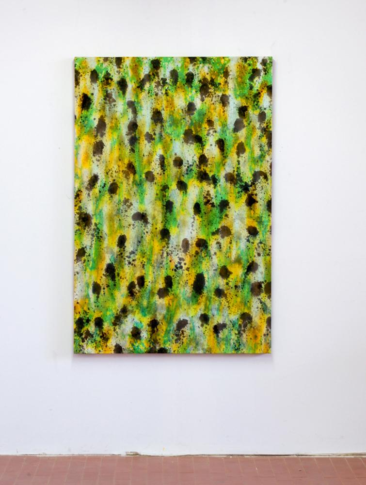 Questo quadro è uguale all'altro ma più bello, 2019, anilina su tela, cm 150x100