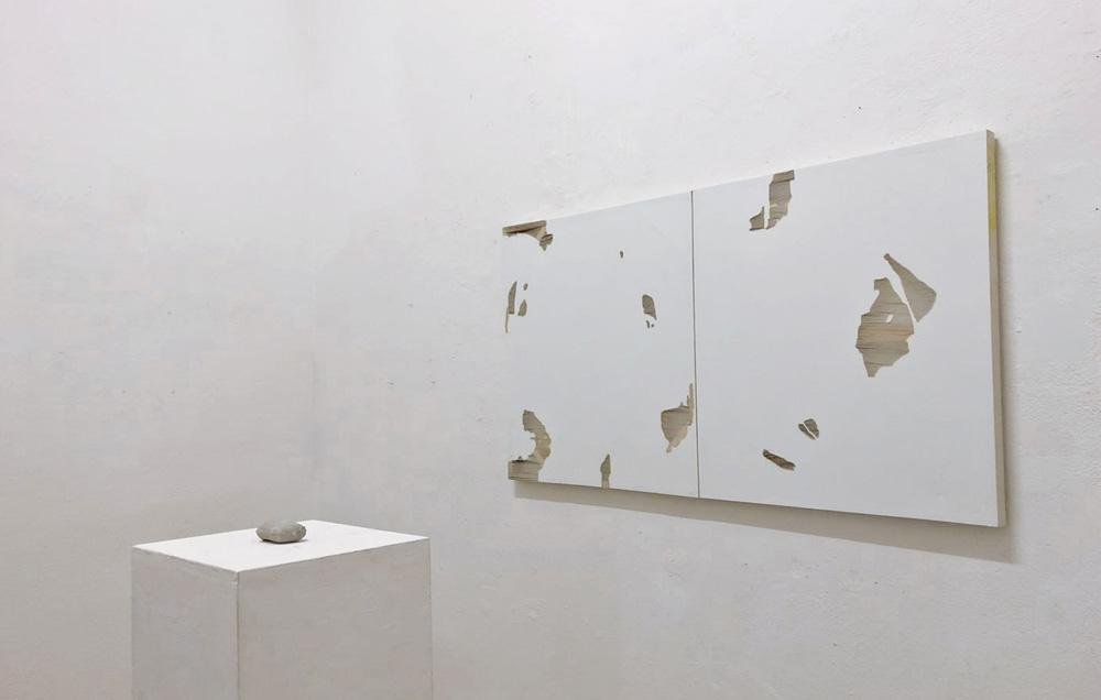 Senza titolo, 2018, tela e acrilico, cm 80x138