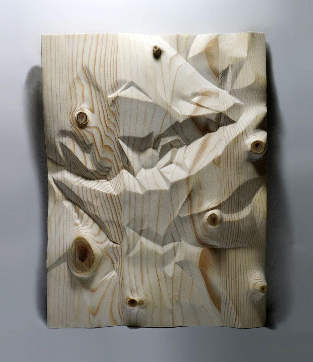 Senza titolo, 2019, legno, cm 20x27