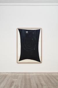 Gianni Dessì, Velo scuro, 1994, olio su tela e legno, cm 195x145