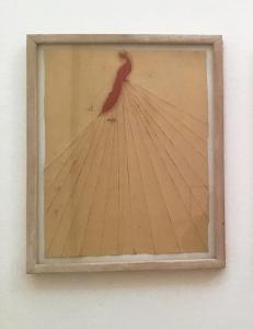 Giuseppe Gallo, Sette, 1989, olio su carta, cm 47x37