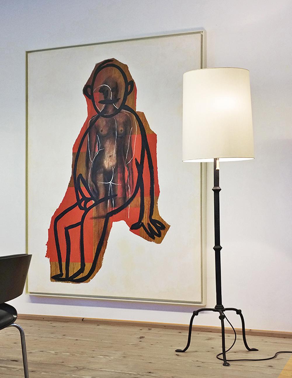 Selbstportrait aus der Serie der grossen Gefühle, 1985, acrilico su tela, cm 200x150