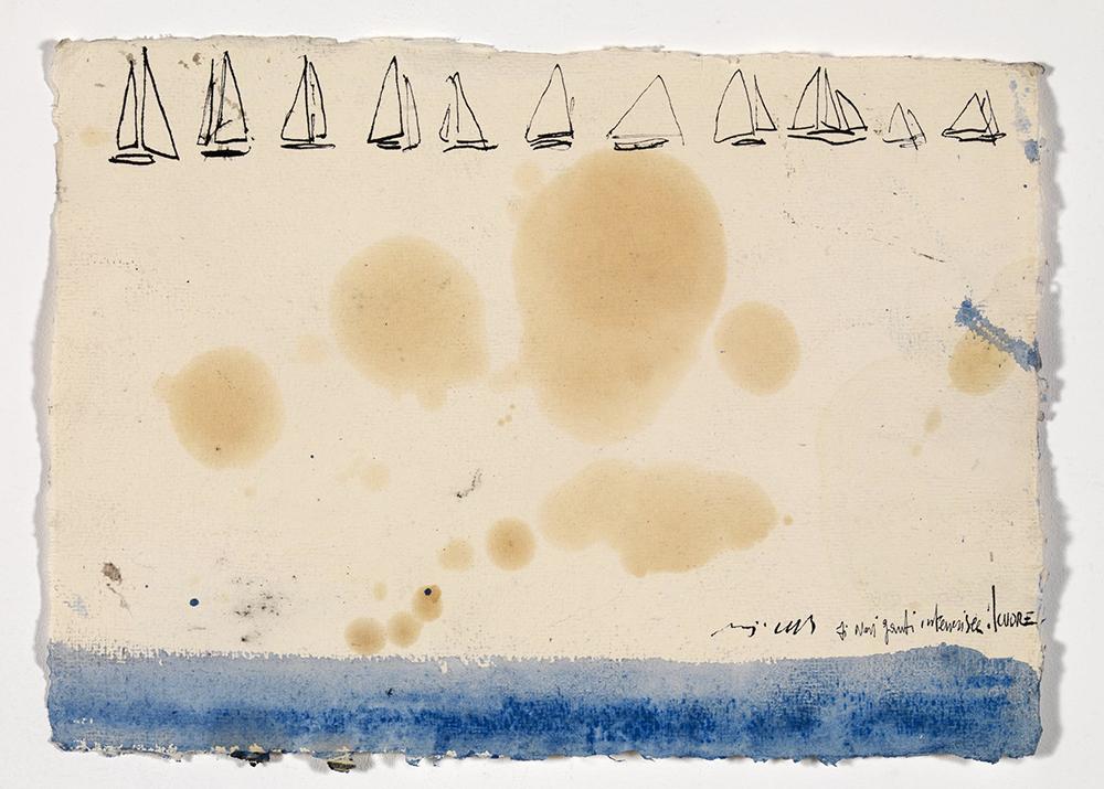 """""""…. Intenerisce il cuore"""", 2008, olio su carta, cm 20x28"""