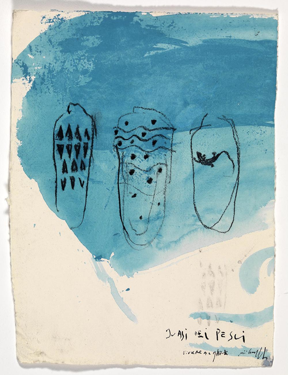 i vasi dei pesci, 2008, olio su carta, cm 37x27