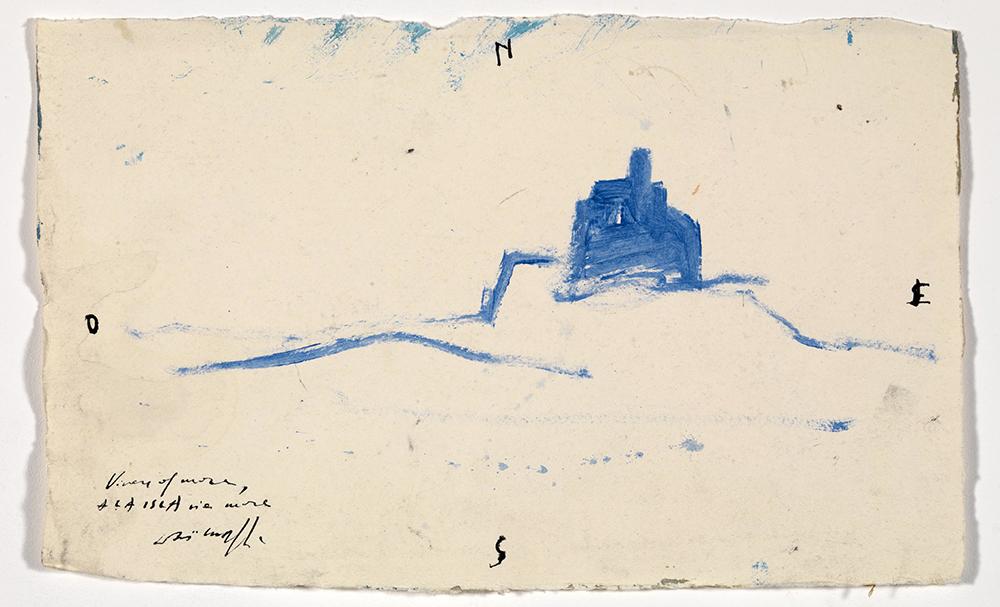 Vivere al mare, 2008, olio su carta, cm 27x37