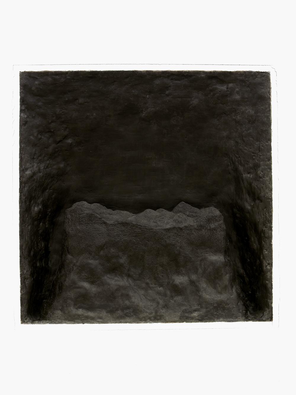 Isola ipogea VIII, 2006, cera con anima in gesso e legno, cm 63x63x13