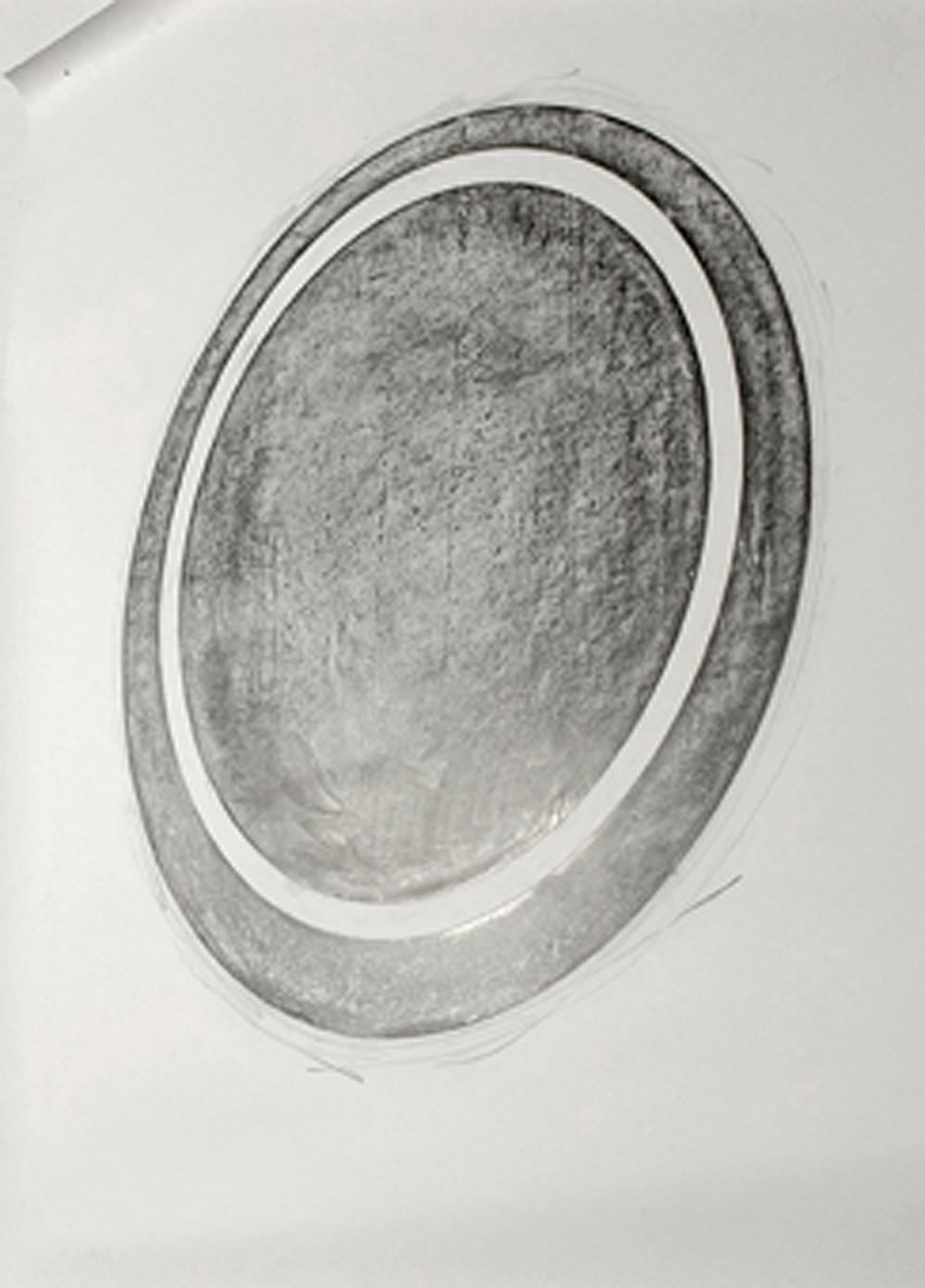 Eliseo Mattiacci, Macchia nel cielo, 2004, grafite su carta, cm 66x48