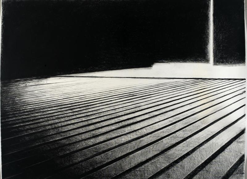Senza titolo, 2006, tempera e carbone su carta, cm 120x145