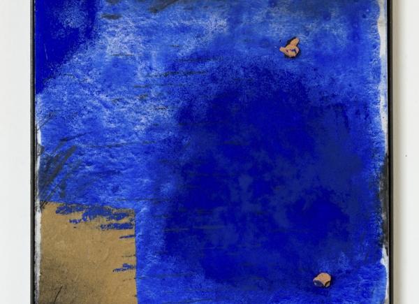 Trasparenze, 2017, tecnica mista e terracotta su tavola, cm 51x39