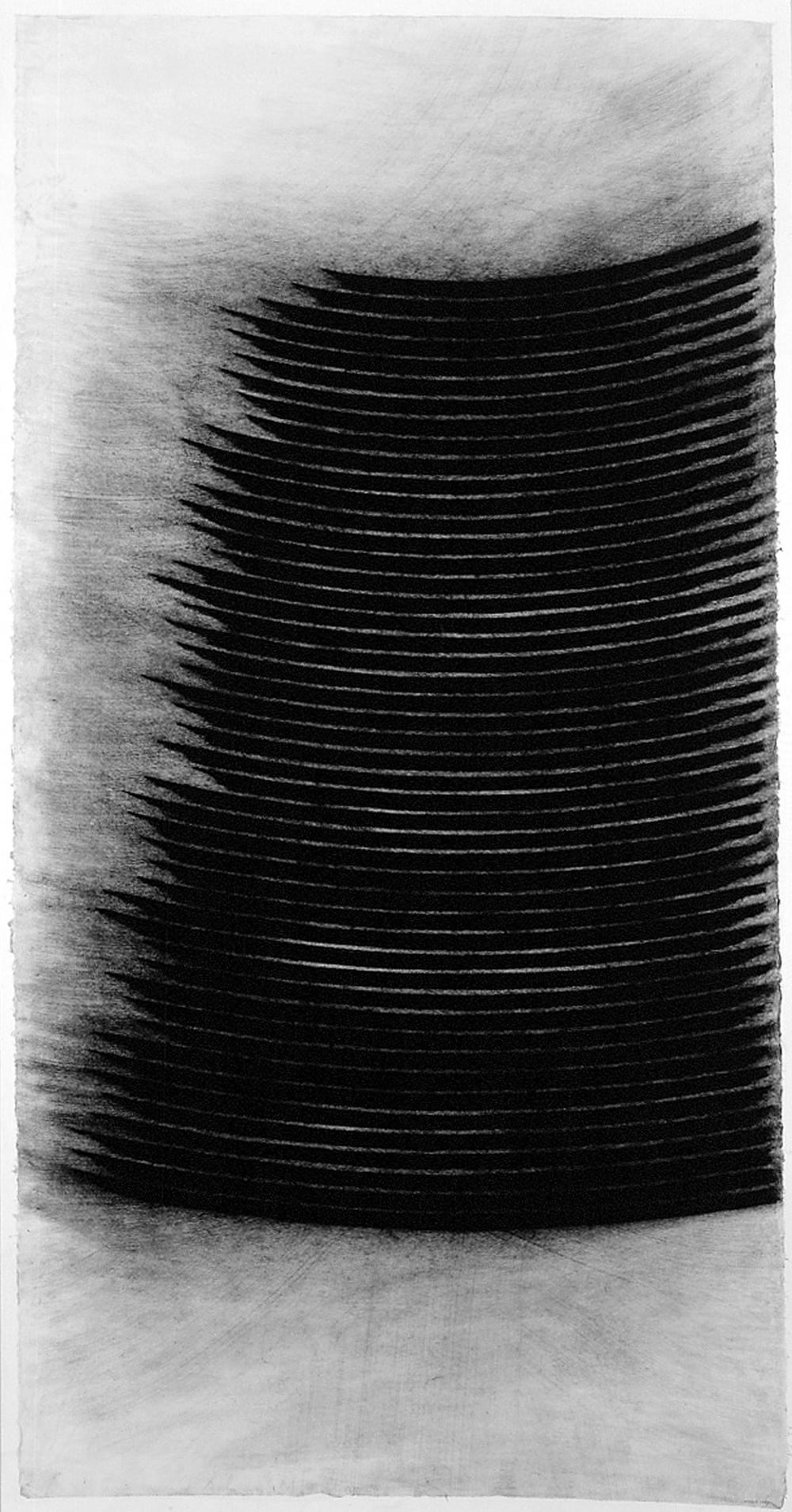 Nunzio, Senza titolo, 2004, carboncino su carta da spolvero, cm 187x97