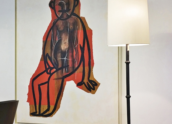Selbstportrait aus der Serie der grossen Gefühle, 1985, acrylic on canvas, cm 200x150